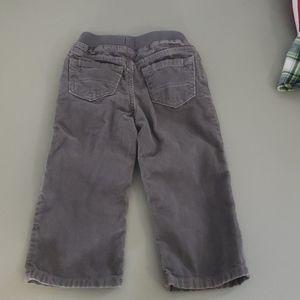 Childrens Place gray corduroy pants
